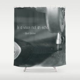 Be a voice not an echo  - Macro Photography #Society6 Shower Curtain
