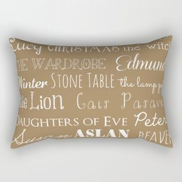 Narnia Celebration - Tortilla Rectangular Pillow