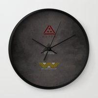 terminator Wall Clocks featuring Aliens, Predator, & Terminator by avoid peril