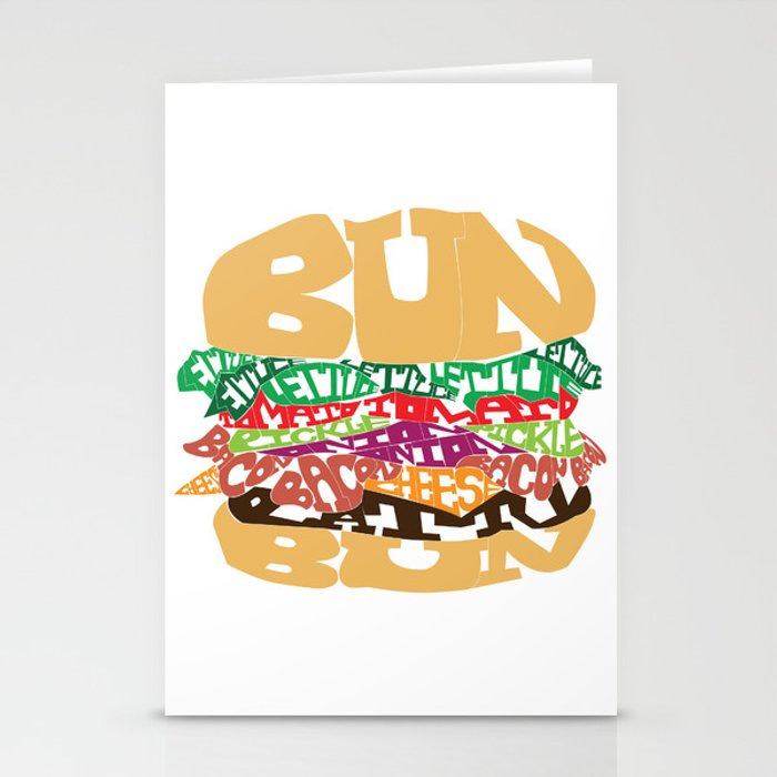 Word Drawing Burger Stationery Cards By Charltonyu Society6