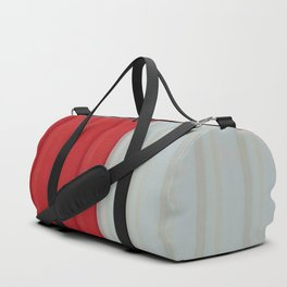 Pattern Red & White Duffle Bag
