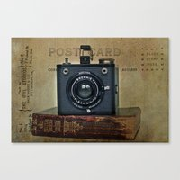 postcard Canvas Prints featuring postcard by Tammy Lee Bradley