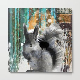 Cheeky Industrious Squirrel  Metal Print