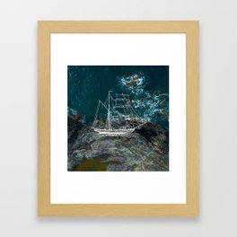 Shower Ship Framed Art Print