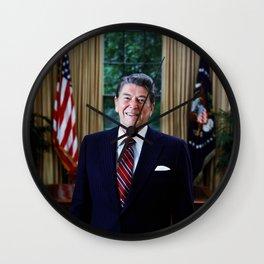 President Reagan in Oval Office Wall Clock