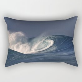 Winter Waves At Pipeline 25 Rectangular Pillow