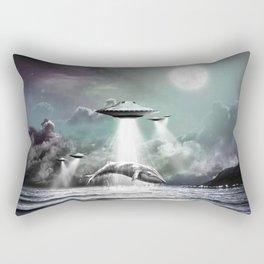 Whaling UFO Rectangular Pillow