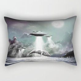 Whaling UFO Rectangular Pillow