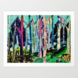 """Forest of Evening Whimsy"" Art Print"