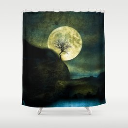 The Moon and the Tree. Shower Curtain