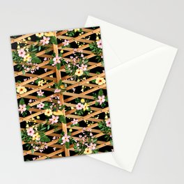Tropical Hibiscus and Monstera Vines Stationery Cards