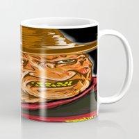freddy krueger Mugs featuring Freddy Krueger by Art of Fernie