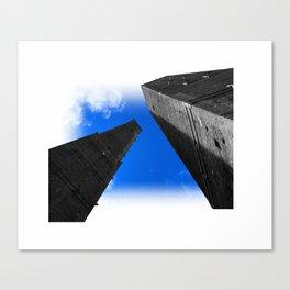 towers of bologna le due torri Canvas Print