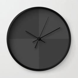 Grey Squares V1 Wall Clock