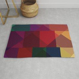 Jewel tones abstract geometric III Rug