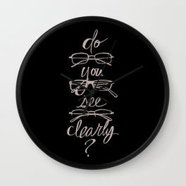 Do You See Clearly? Wall Clock