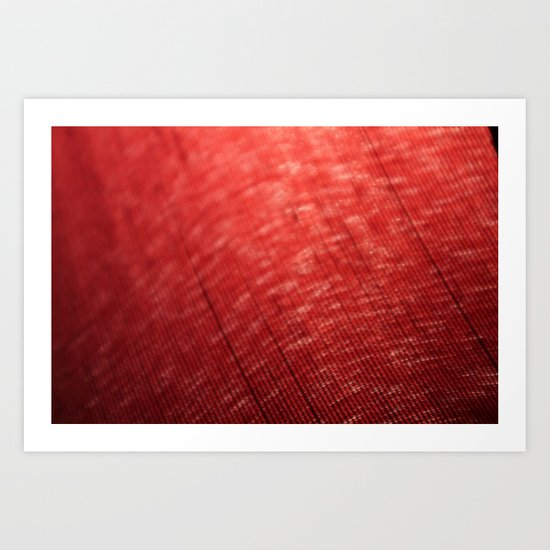Red Defraction Art Print