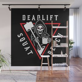 Squat Bench Deadlift Grim Reaper Wall Mural