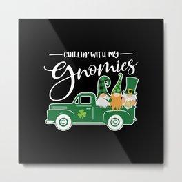 St. Patrick's Day Gnomes paddys day Metal Print