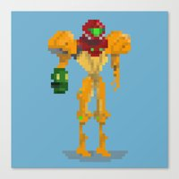 samus Canvas Prints featuring Samus by GregSuj