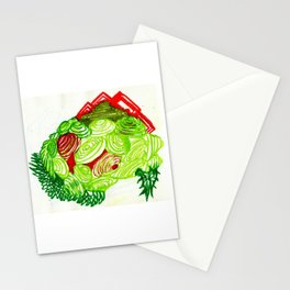 Grass grows; Brain on weed Stationery Cards