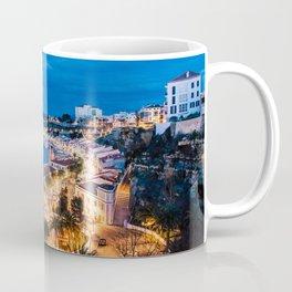 Paisaje nocturno del puerto de maó Coffee Mug