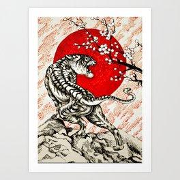 Japan Tiger Art Print