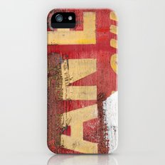 Yellow letters on red Slim Case iPhone (5, 5s)