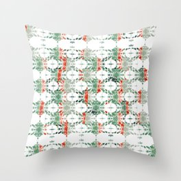 estrela_turqouise&red_no2 Throw Pillow