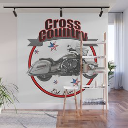 Victory Cross Country U.S.A. Star Motorcycle Wall Mural