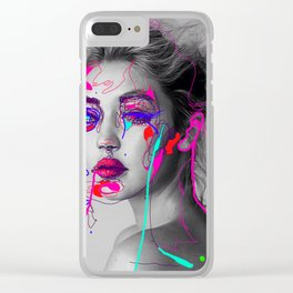 Abstract Gigi Clear iPhone Case