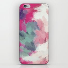 red pink and green painting texture abstract background iPhone Skin