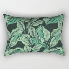 Exotic Tropical Banana Palm Leaf Print Rectangular Pillow