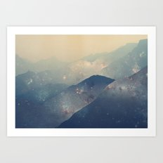 Mountains of Space Art Print