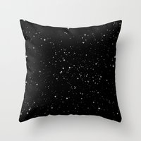 stars Throw Pillows featuring Stars by Jorge Lopez