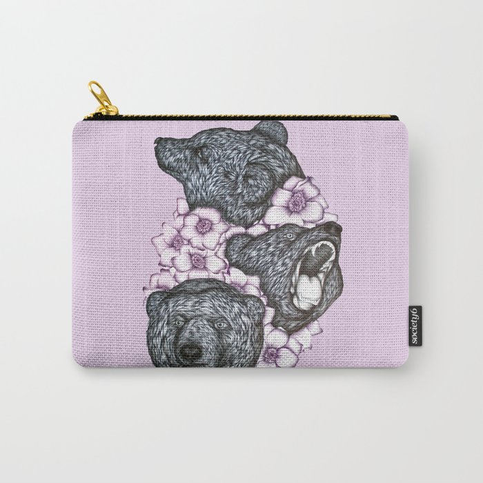 Blushing Bears in Bears Carry-All Pouch
