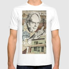 Neil Young MEDIUM White Mens Fitted Tee