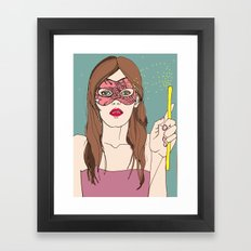 The magic of the mask Framed Art Print