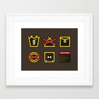 lord of the ring Framed Art Prints featuring Take Care Ring-bearer by Barn Bocock