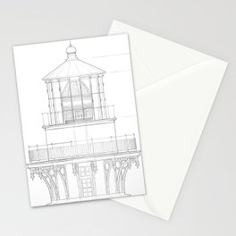Vintage Bodie Island Lighthouse Blueprint Stationery Cards