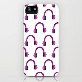 Pink Headphones iPhone Case