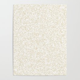 Tiny Spots - White and Pearl Brown Poster