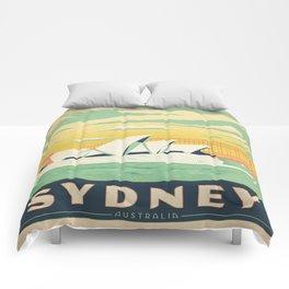Vintage poster - Sydney Comforters