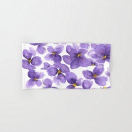 Violets are blue Hand & Bath Towel