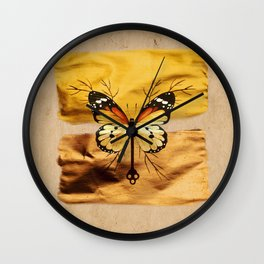 Gold and copper butterfly Wall Clock