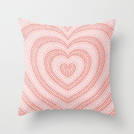 Hearts in reaction Throw Pillow