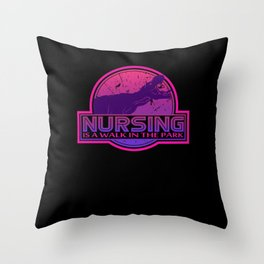 Funny Nursing Shirts I health care emergency Throw Pillow
