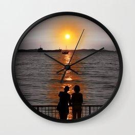 Sunset couple Wall Clock