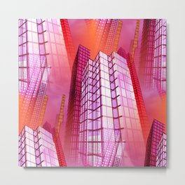 city art -a- Metal Print