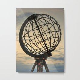 Crescent Moon through the Nordkapp Globe Metal Print